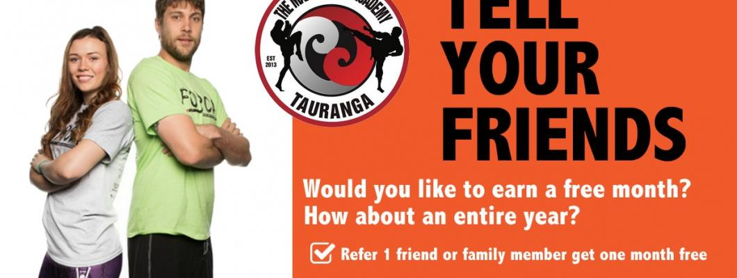 Refer a frien at the martial arts academy Tauranga