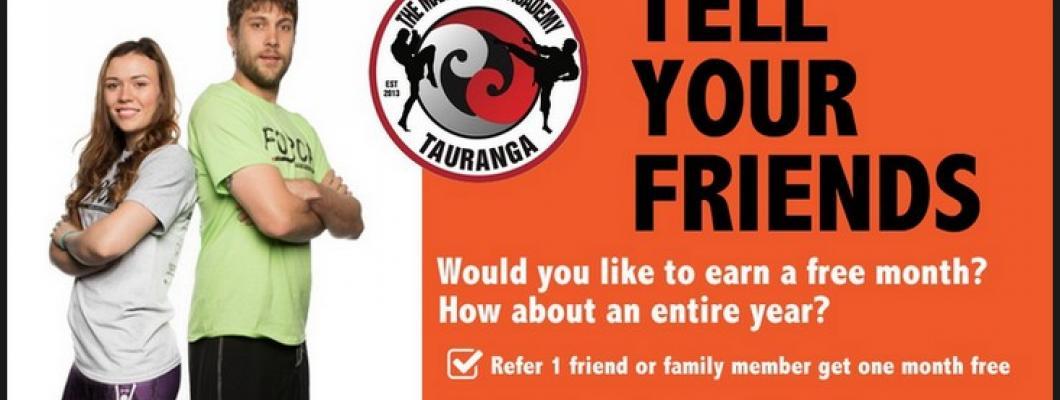 Refer a friend The Martial Arts Academy Tauranga